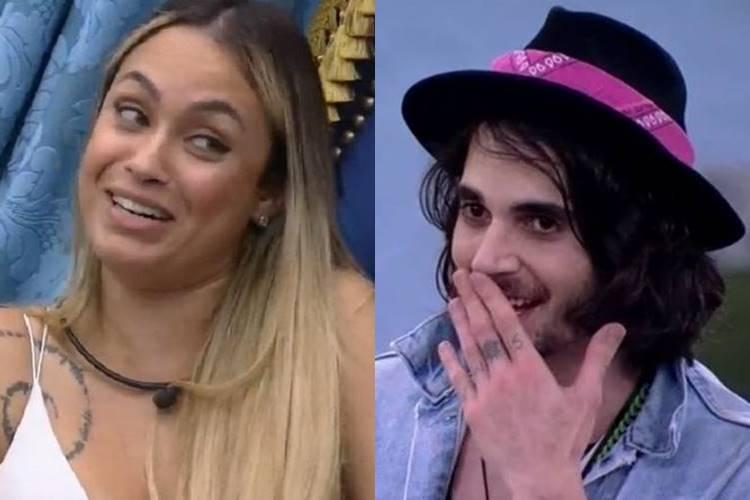 BBB21: Sarah descarta romance com Rodolffo, mas dá cantada em Fiuk - Foto: Reprodução/ Rede Globo/ Montagem Área VIP