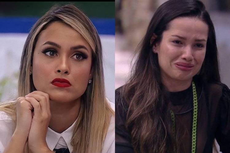 BBB21: Durante conversa com brothers, Sarah diz que sister age por conveniência e dispara: ''Juliette está se perdendo no jogo'' - Foto: Reprodução/ Rede Globo/ Montagem Área VIP
