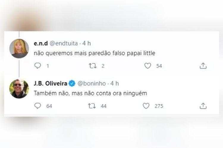 A resposta dada por Boninho - Reprodução: TV Globo
