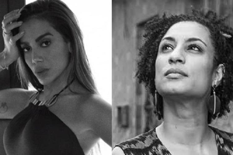 No Instagram, Anitta faz homenagem à Marielle Franco