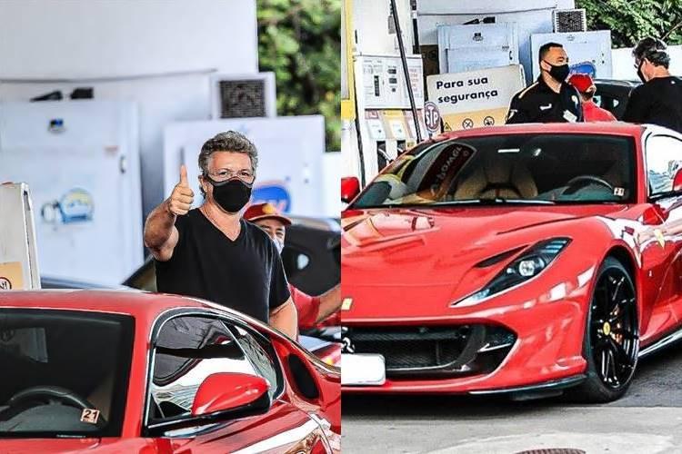 Boninho exibe Ferrari em posto de gasolina; confira fotos! - Foto: Fabricio Silva/Agnews