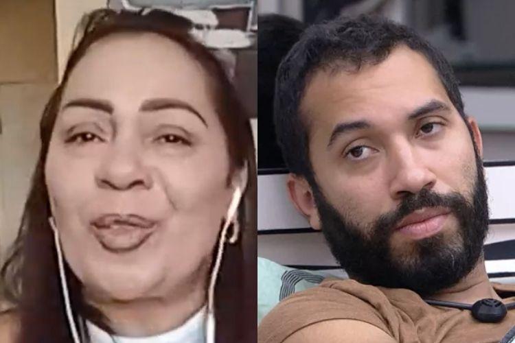 Gilberto e a sua mãe - Reprodução: TV Globo