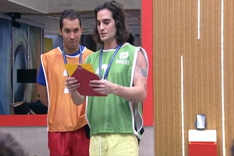 Gilberto e Fiuk foto reprodução Globo Play