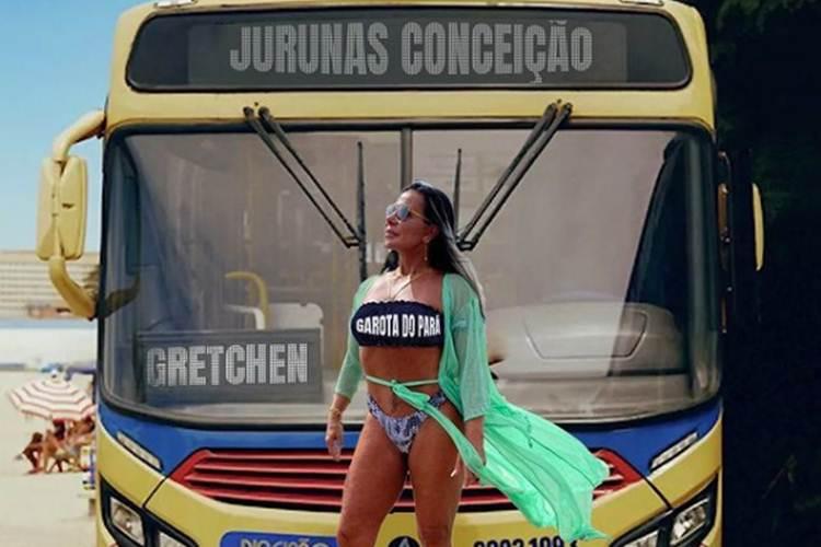 """Gretchen se inspira em Anitta em capa de hit: """"Garota do Pará"""""""