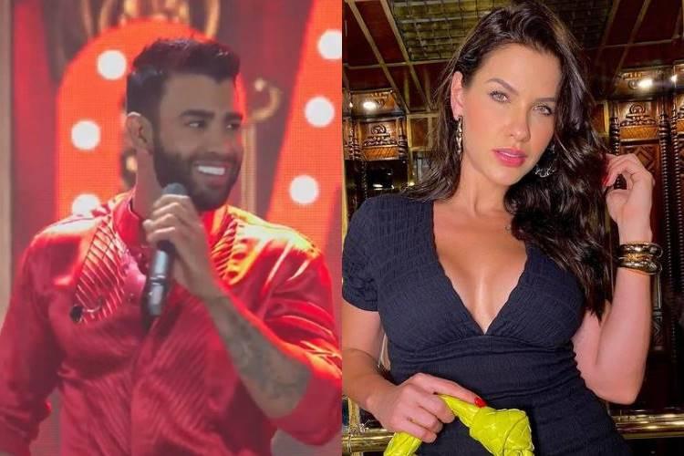 Após investida do sertanejo, Andressa Suita responde Gusttavo Lima - Foto: YouTube e Instagram/ Montagem Área VIP