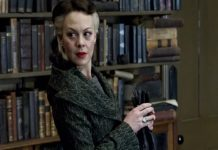 Helen McCrory atriz dando vida a personagem Harry Potter