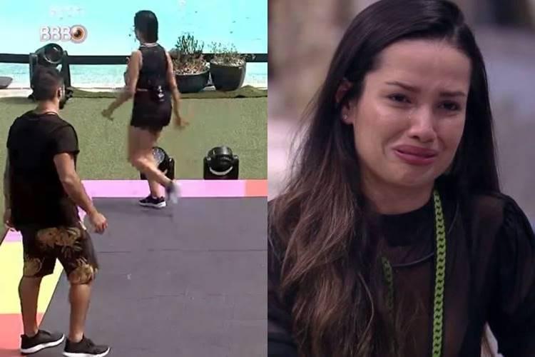 BBB21: Após mais de 13 horas de prova, Juliette abandona disputa pela liderança - Foto: Reprodução/ Rede Globo/ Montagem Área VIP