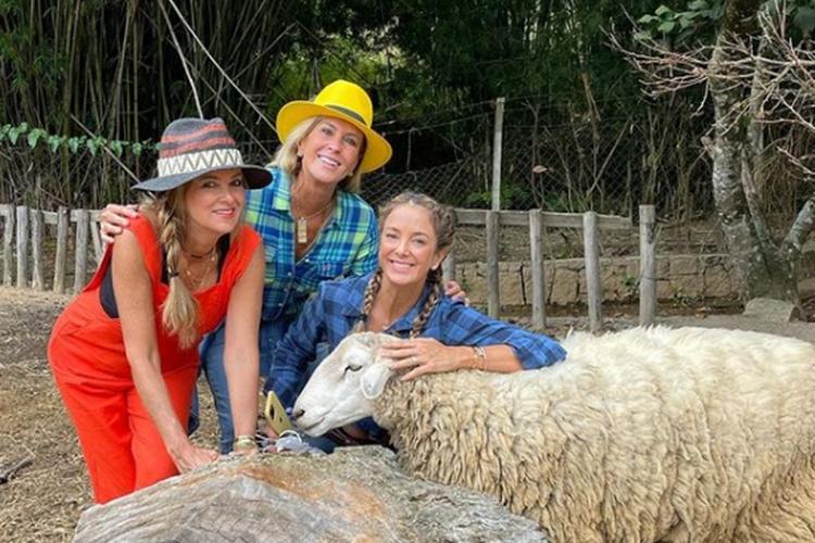 """Ticiane Pinheiro curte dia na fazenda com família: """"Amo a natureza"""""""