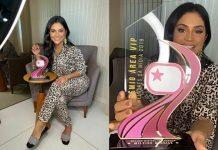 Mileide Mihaile e o 'Prêmio Área VIP' - Reprodução: Área VIP