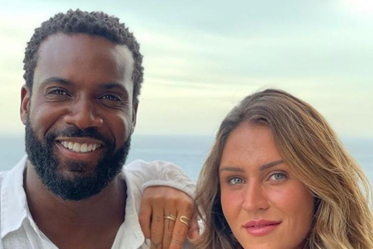 Rafael Zulu e namorada Aline Beckerfoto reprodução Instagram