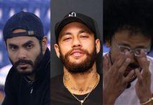 Rodolffo, Neymar e João - Reprodução: Instagram (Montagem: Área VIP)