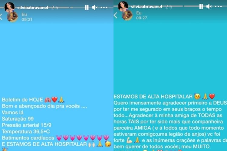 Silvia Abravanel foto reprodução Instagram montagem Area Vip