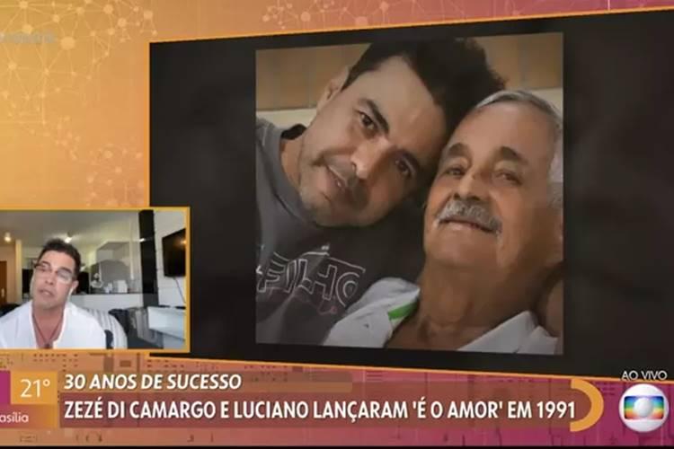 Zezé fica emocionado no Encontro (Reprodução/Globo)