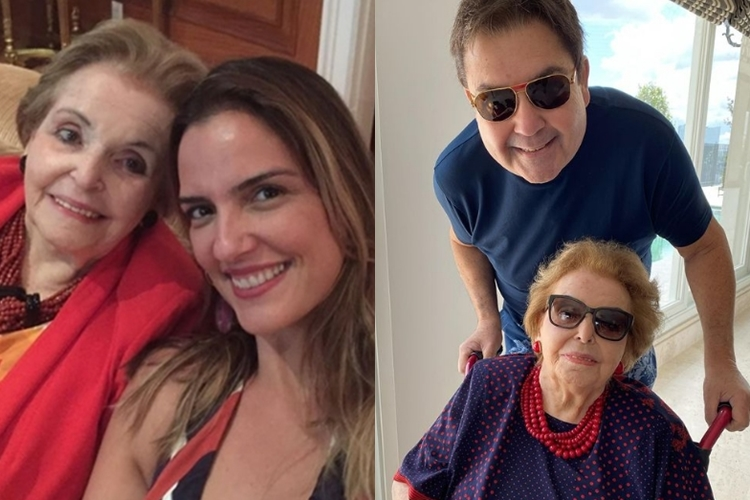 Dona Cordélia sogra de Luciana Cardoso Fausto Silva e sua mãe dona Cordélia foto reprodução instaram montagem Area Vip