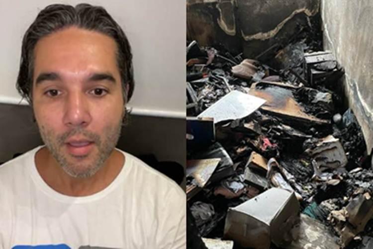 Fernando Sampaio perde tudo em incêndio na casa e desabafa