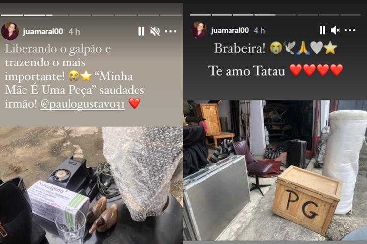 Juliana Amaral foto reprodução Instagram montagem Area Vip