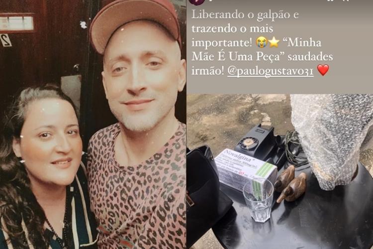 Juliana Amaral e Paulo Gustavo foto reprodução Instagram montagem Area Vip