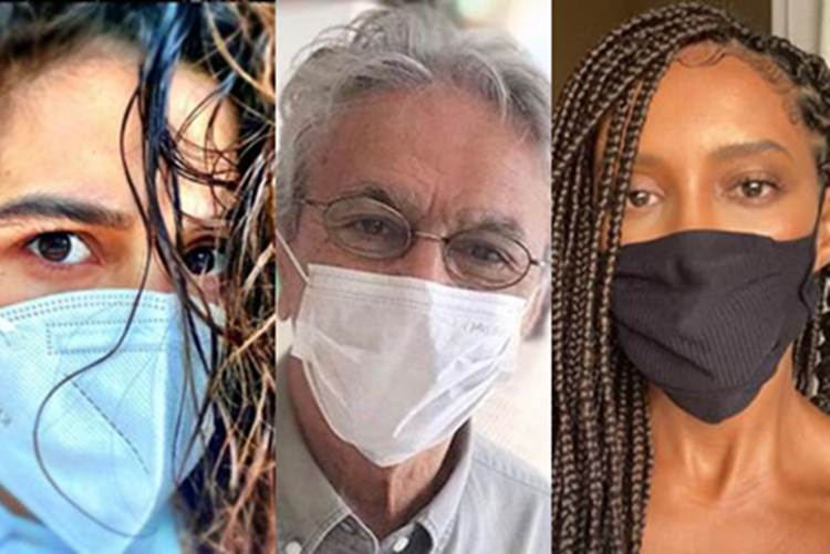 Famosos defendem uso de máscara após fala de presidente