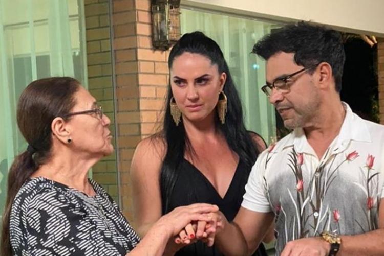 Dona Helena Graciele Lacerda e Zezé Di Camargo foto reprodução Instagram