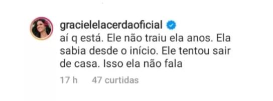 Graciele Lacerda foto reprodução Instagram