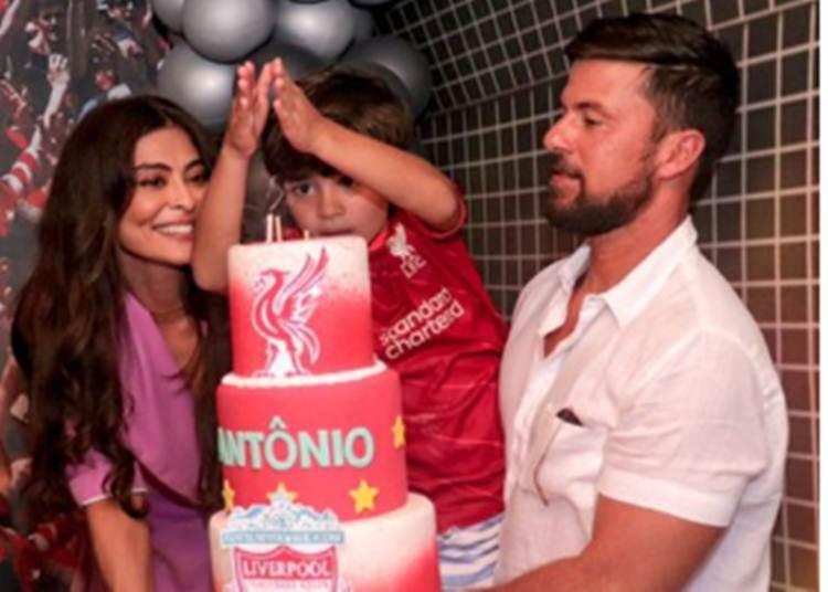 Juliana Paes comemora aniversário do filho com festinha em família