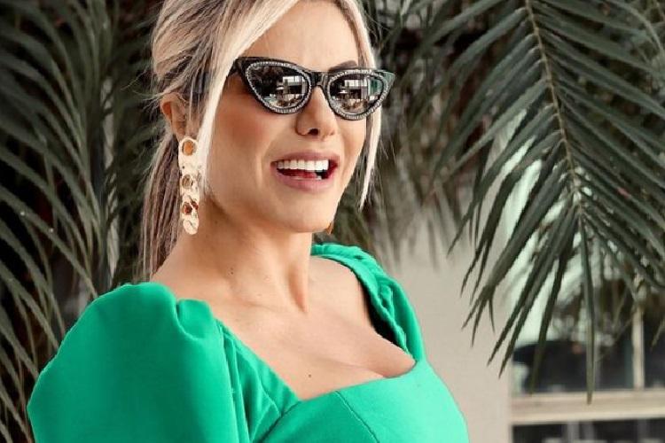 Poliana, esposa do sertanejo Leonardo, ousa no look para evento e recebe elogios de Virginia Fonseca
