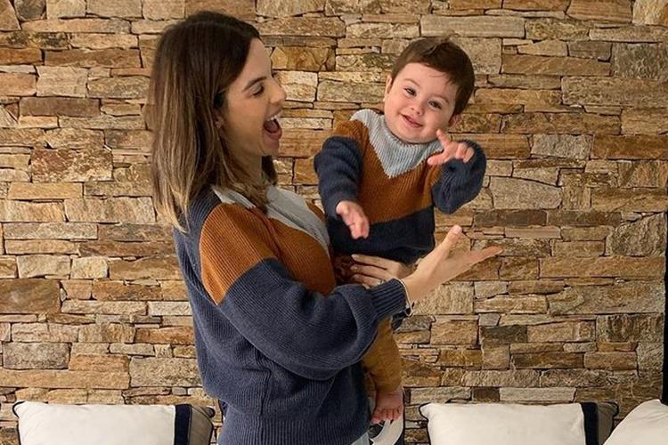 """Sthefany Brito celebra 11 meses do filho: """"Que dádiva te ver crescendo e descobrindo o mundo!"""""""