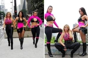 Grupo Sexy Dolls grava clipe nas ruas de São Paulo